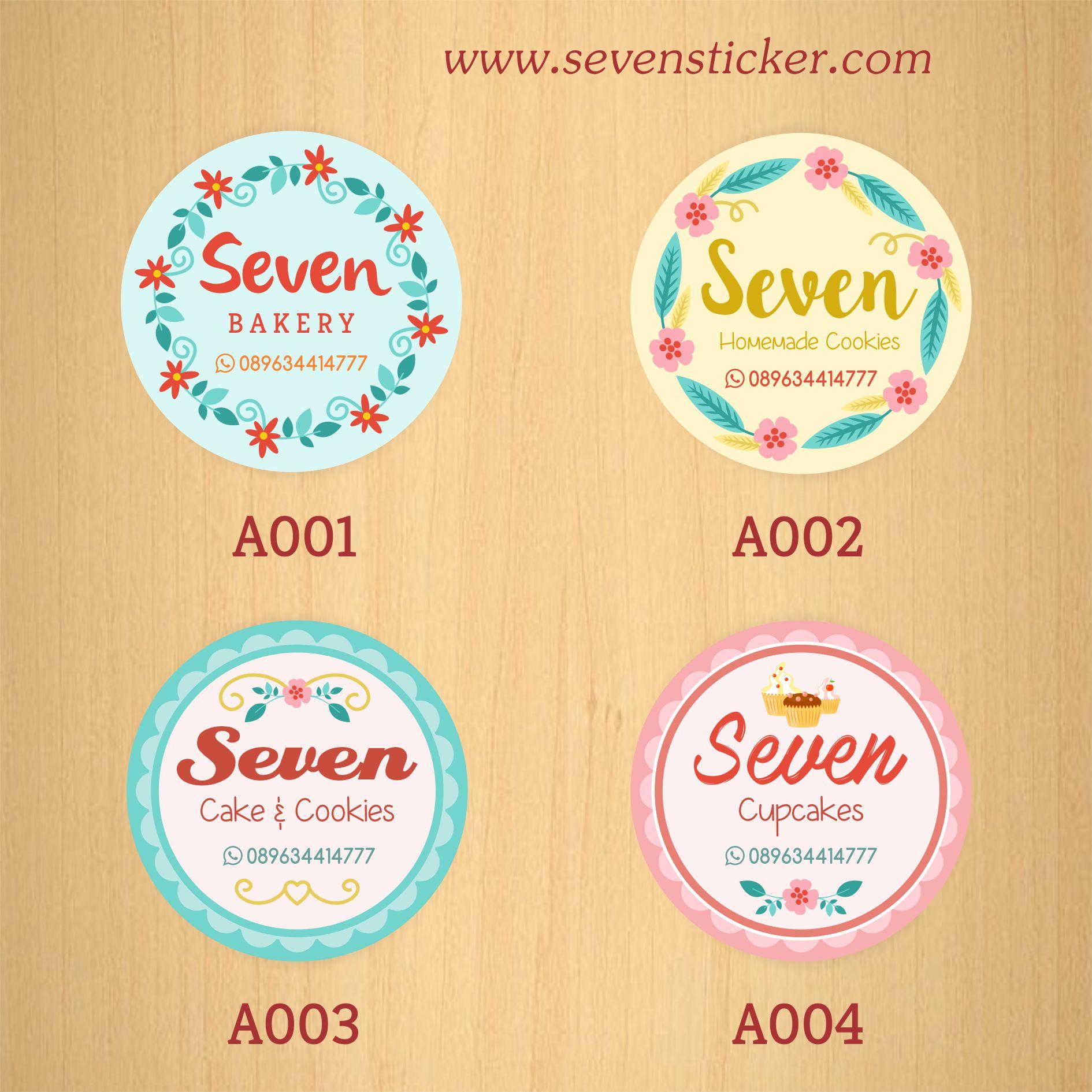 Jual stiker label kue kitchen slime clothing murah berkualitas kota tangerang seven sticker tokopedia