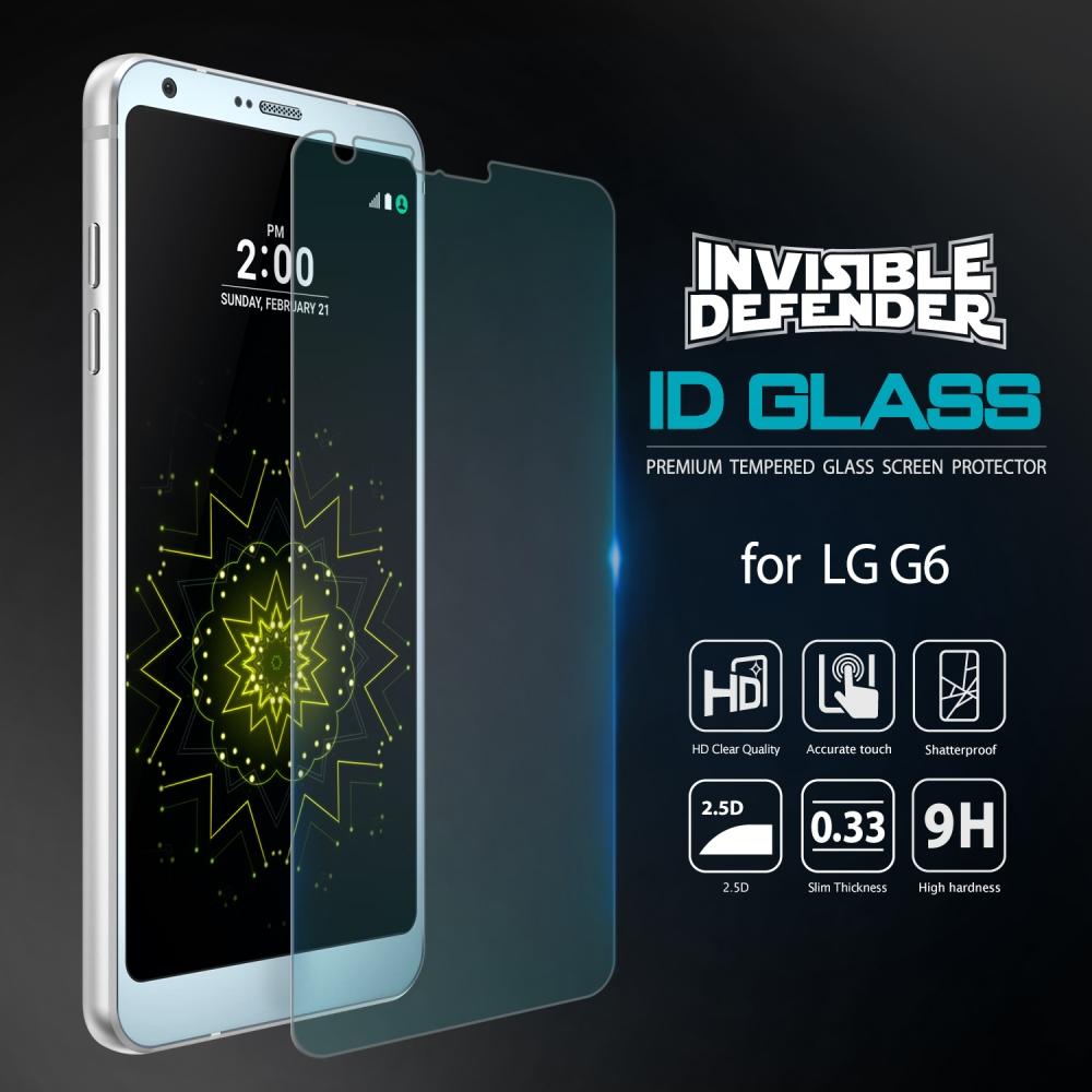 Ringke 0.33mm LG G6 Invisible Tempered Glass Anti Gores Kaca Premium