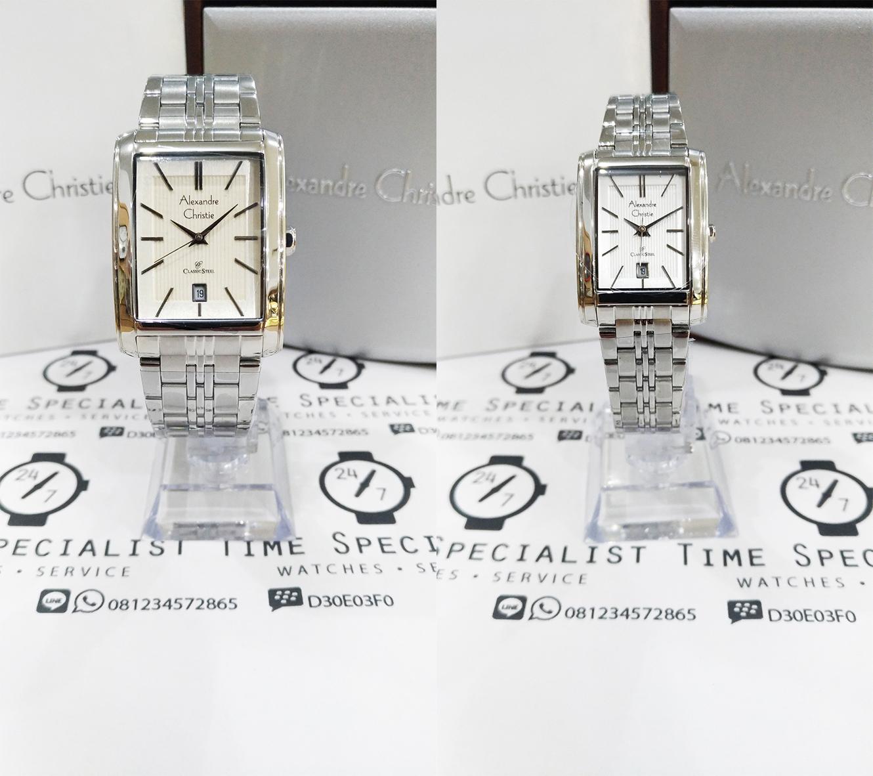 Jual Jam Alexandre Christie Ac 8408 Ss Silver Plat Putih Couple Tangan Original 24 7 Time Specialist Tokopedia