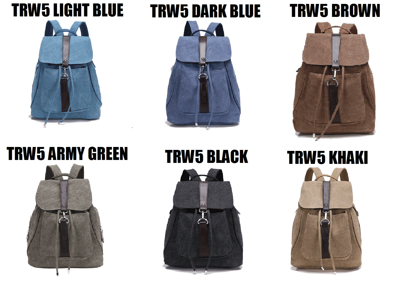 Jual Martin Versa Tas TRW5 Ransel Backpack Wanita Kanvas Impor Import - Dark Blue - Martin