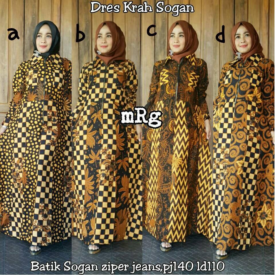 Model Gamis Batik Sogan