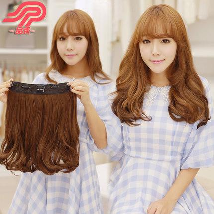 hairclip curly pendek murah - Cokelat tua thumbnail