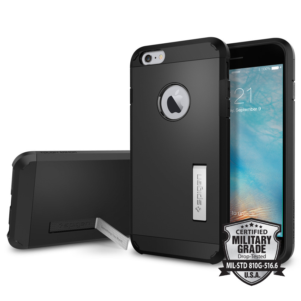 Spigen iPhone 6 Plus - 6S Plus Case Tough Armor Casing - Black