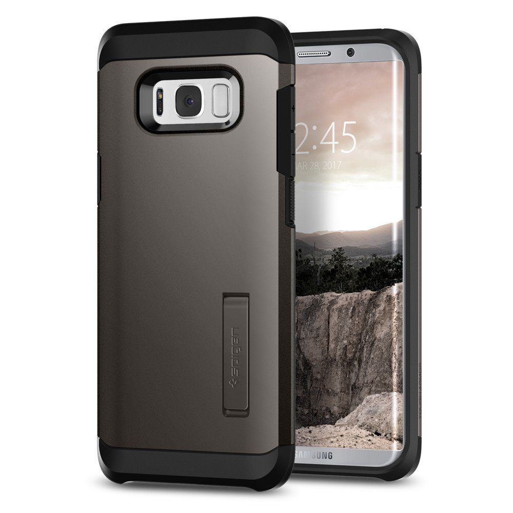 Aksesoris Samsung Jual Gadget Android Hp Lenovo Livo S90 Spigen Galaxy S8 Case Hard Soft Tough Armor Casing Gun Metal