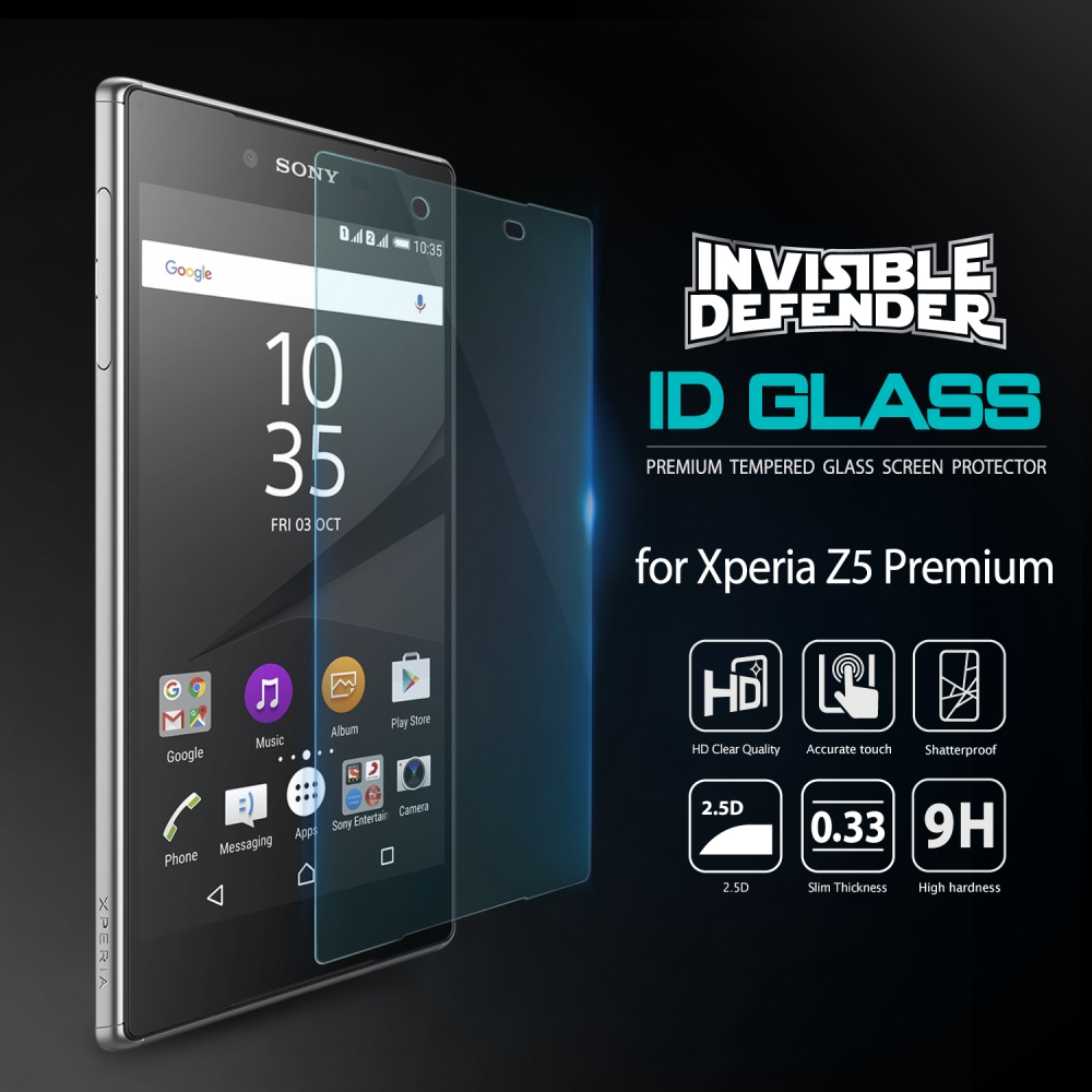 Ringke 0.33mm Sony Xperia Z5 Premium Invisible Tempered Glass