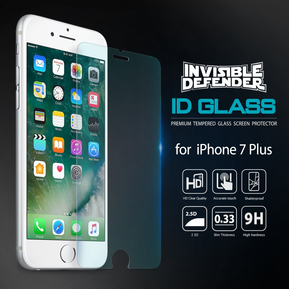 Ringke 0.33mm iPhone 7 Plus Invisible Tempered Glass Anti Gores Kaca