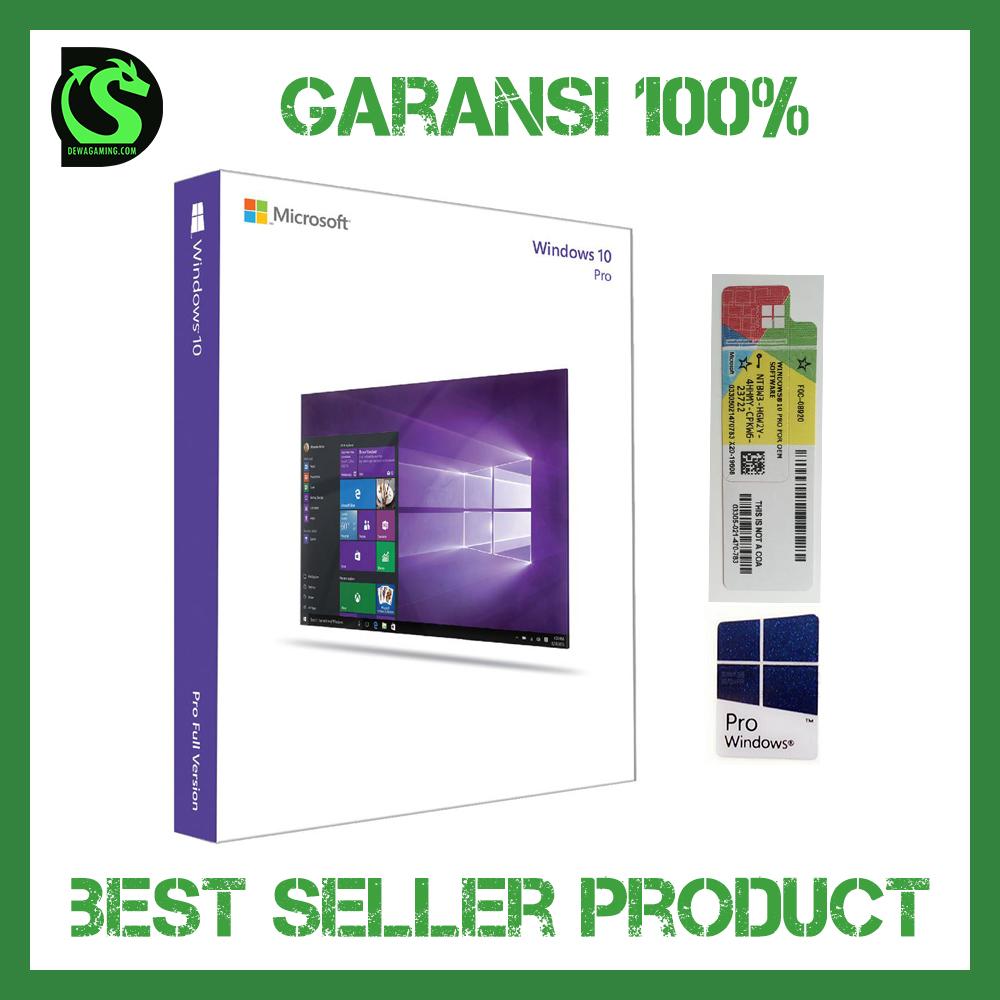 Jual Coa Windows 10 Professional Original Lisensi Bonus Sticker Pro Dvd Box Dewa Gaming Store Tokopedia