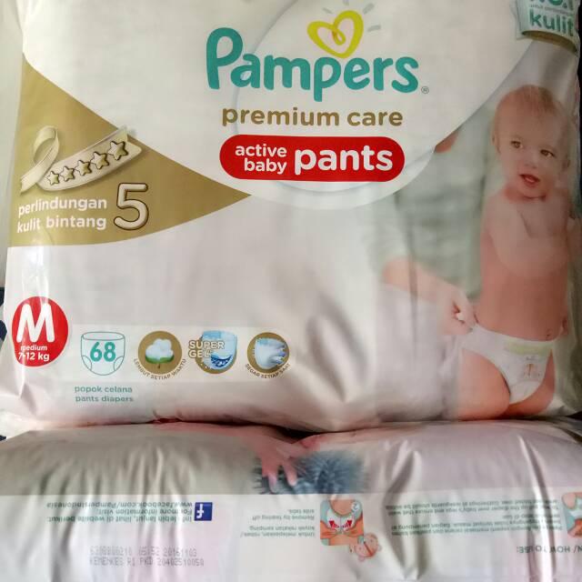 harga Pampers Premium Care Pants M 68 M68 Blanja.com