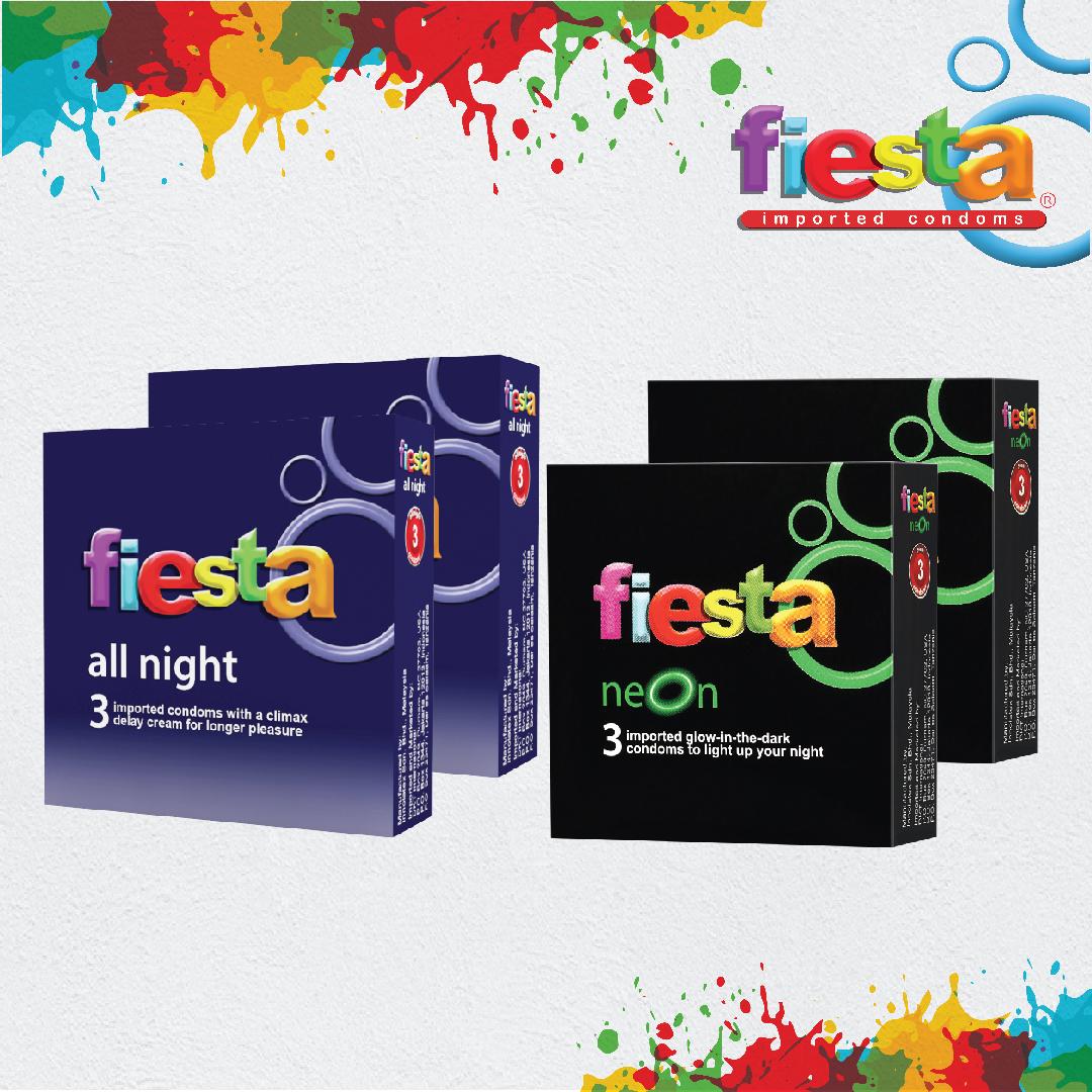 Jual Kondom Fiesta All Night Isi 3 2 Box Neon Official Store Os Tokopedia