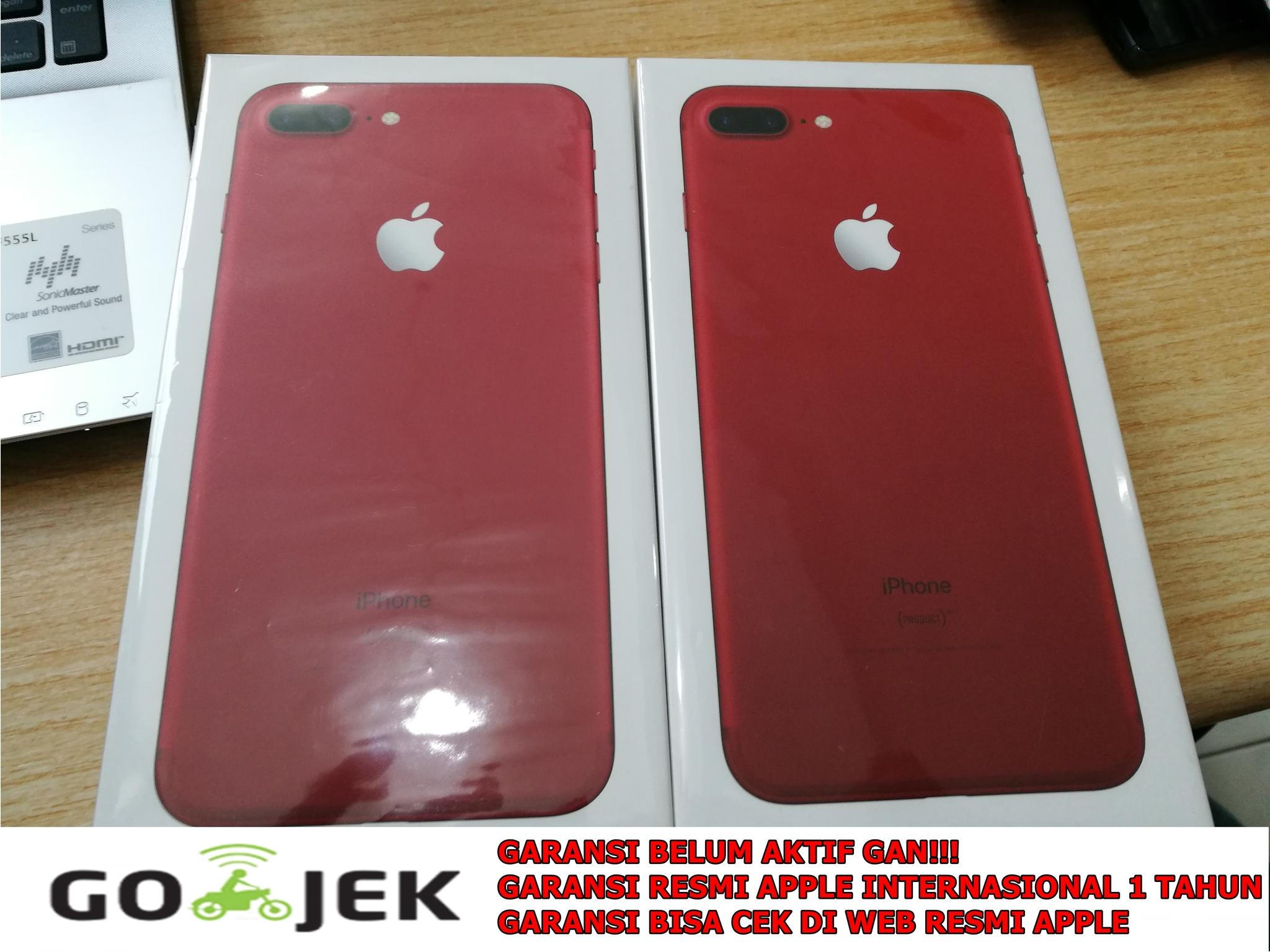 Jual Bnib Iphone 7 Plus 128gb Red Garansi Resmi Apple Edition Internasional 1year Jr Store Batam Tokopedia