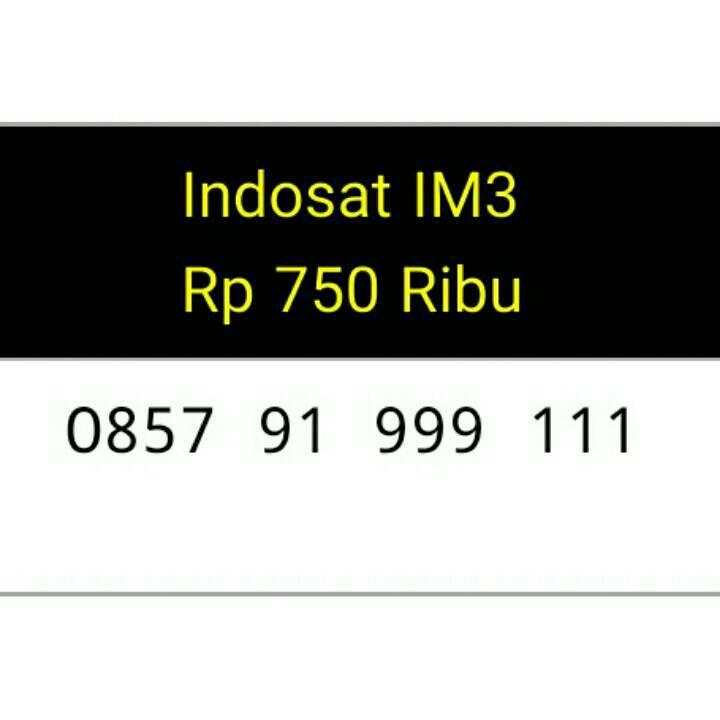 Jual Kartu Perdana Nomor Cantik Indosat Im3 Seri Double TRIPLE 999 111 #CL5 - basmallah