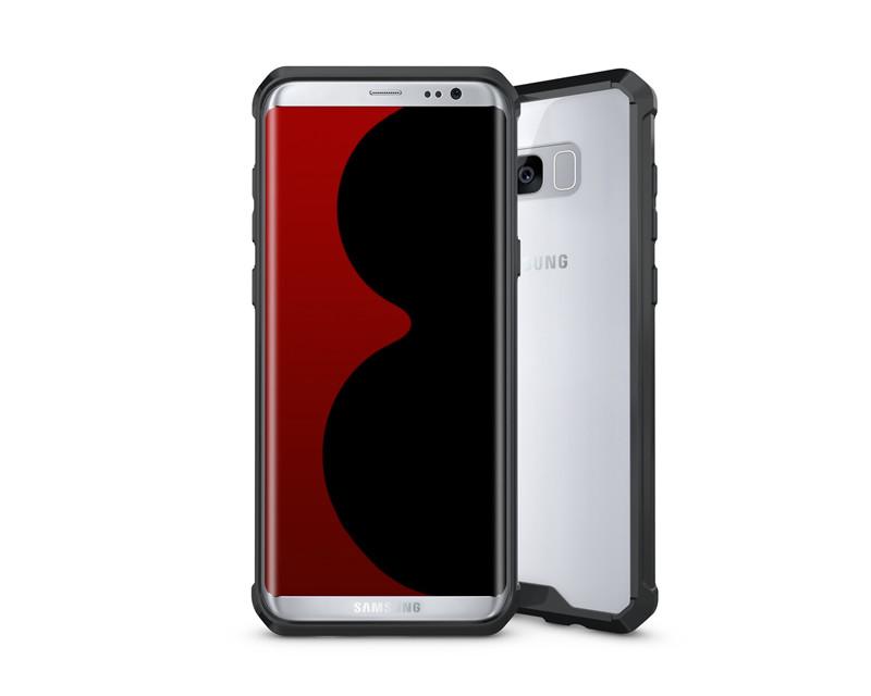 Samsung Galaxy S8 Clear Back  Panel TPU Air Cushion Hybrid Case