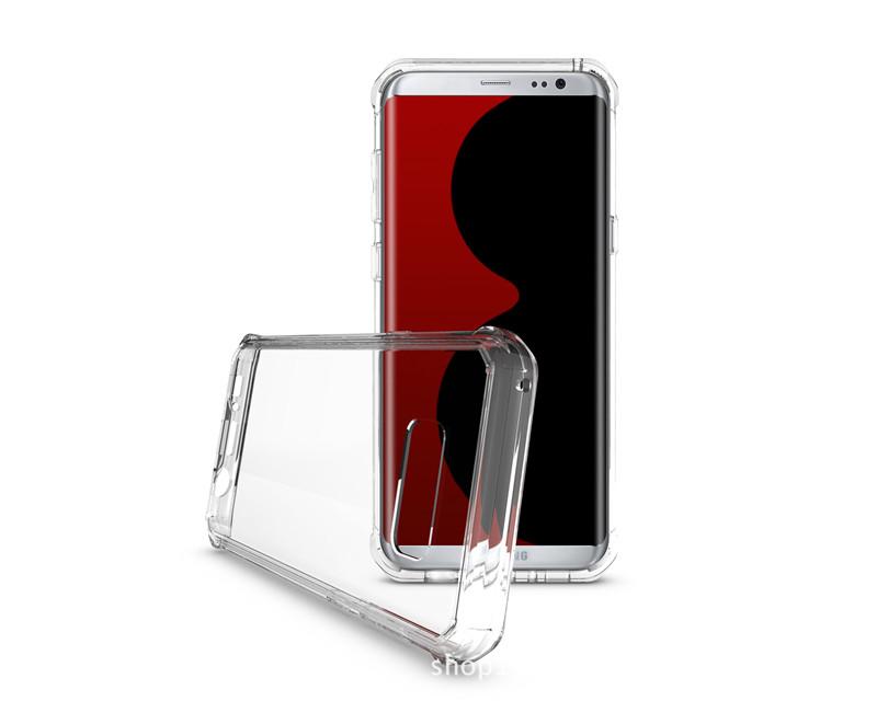 Samsung Galaxy S8 Plus Clear Back  Panel TPU Air Cushion Hybrid Case