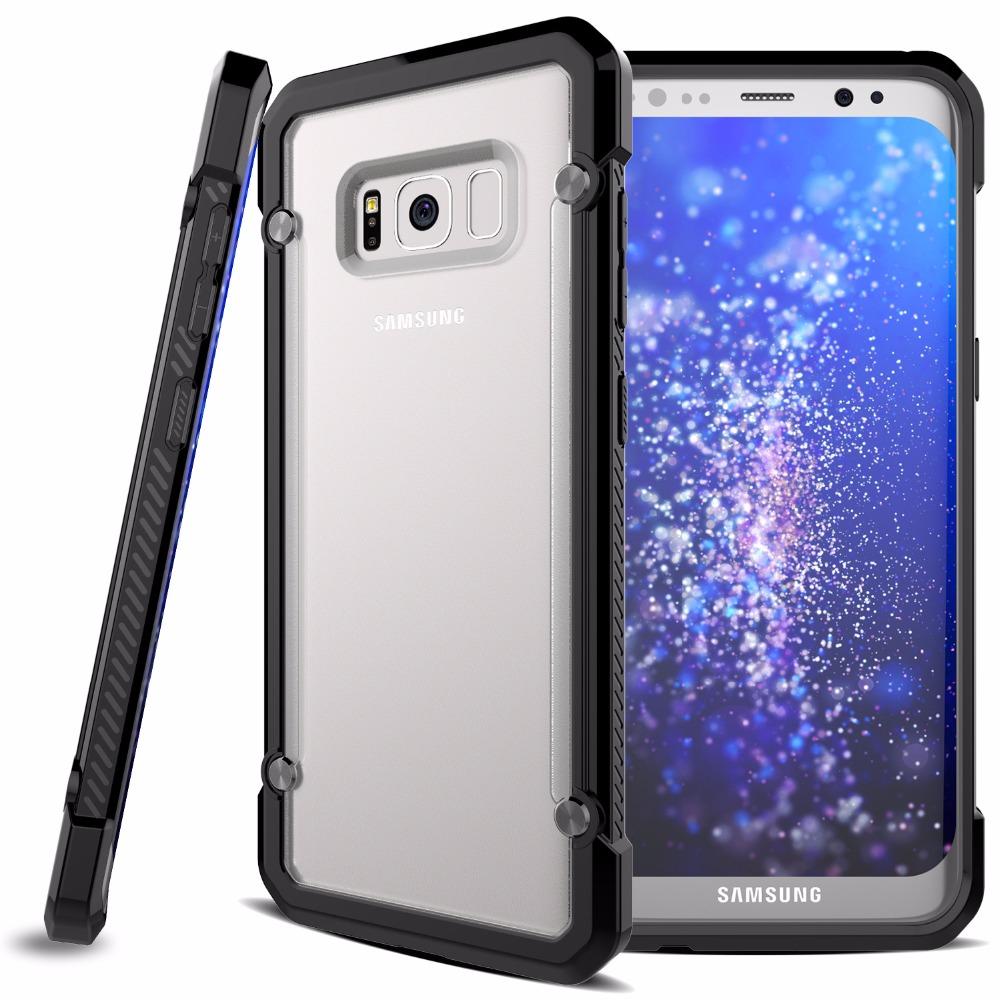 Samsung S8 Clear Doff Back - TPU Armor Cushion Hybrid Case