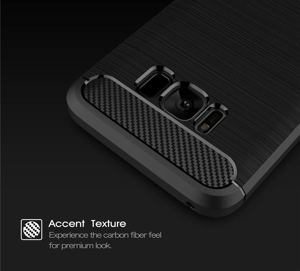 Samsung Galaxy S8 TPU Thin Softgel Case w Carbon Brush Texture