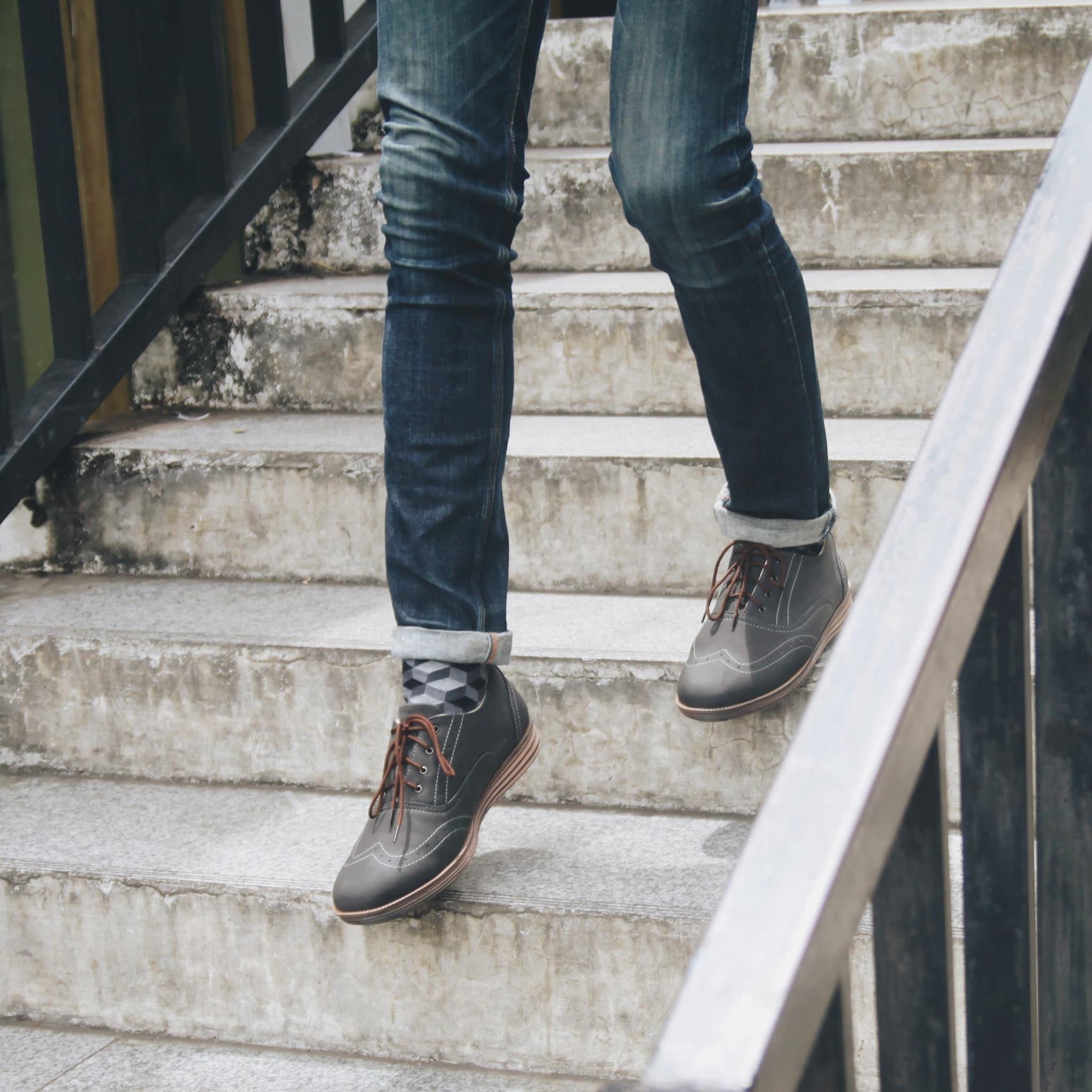 Jual Headway Footwear 09 New Grow Brown Sepatu Handmade Bandung Semi Boots 32 Covey Black