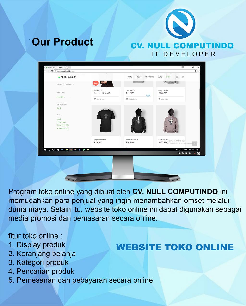 Jual Promo Pemesanan Website Toko Online Sudah Sama