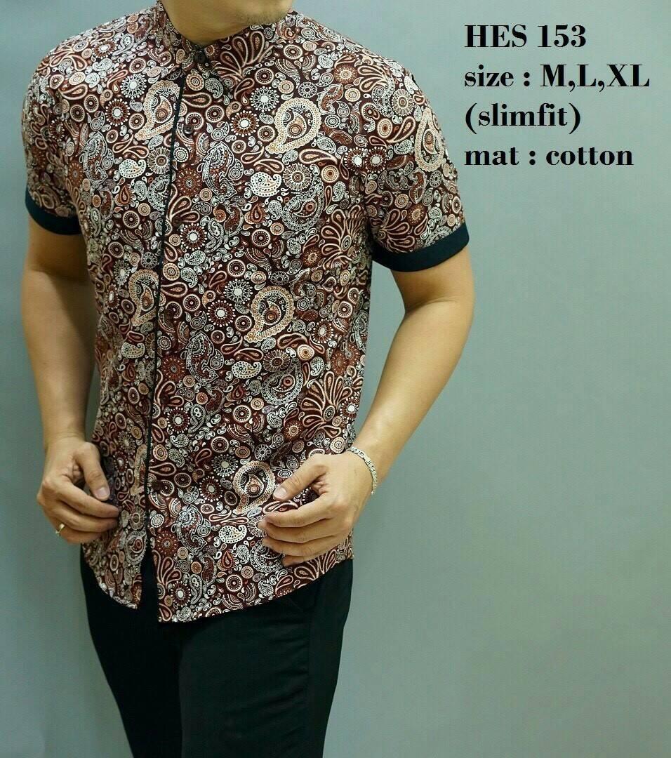 TWENTEME BATIK PRIA SLIMFIT D 345. Jual Baju Kemeja Batik Pria Slim Fit Modern Mewah