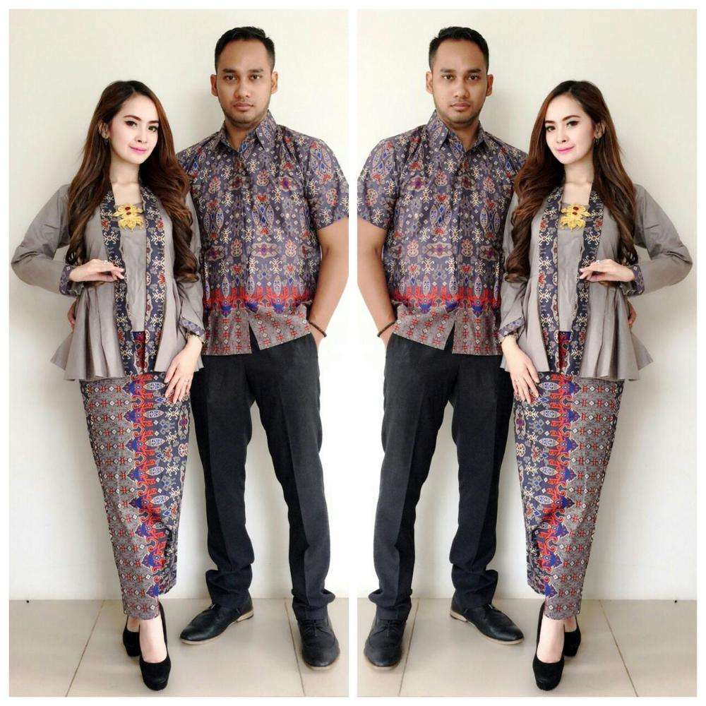Jual Baju Batik Couple Kebaya Sarimbit Model New Laluna Seragam ... d8af595fc1