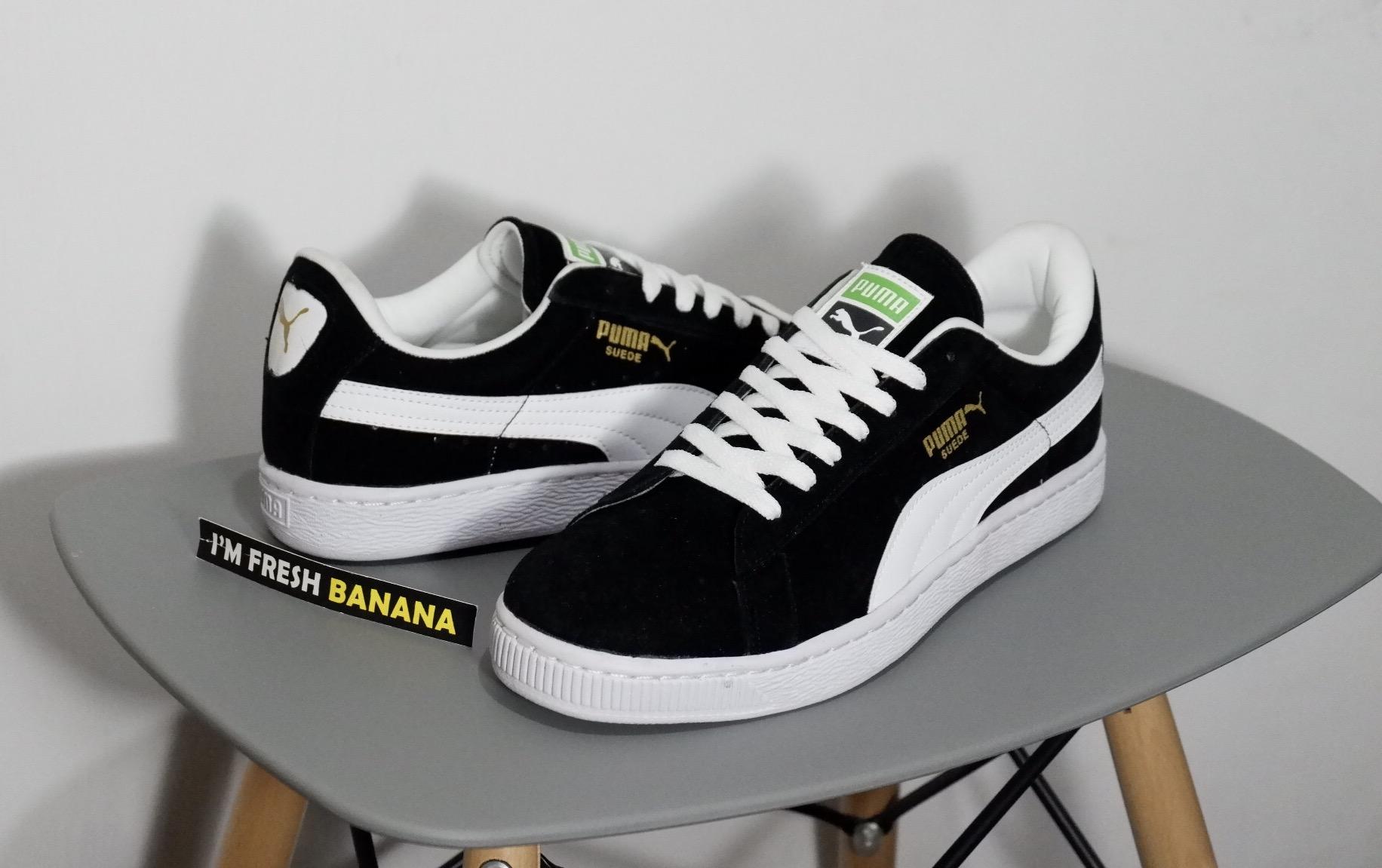 Jual Sepatu Puma Suede Classic Skate Skateboarding Black White ... 43e66848c9