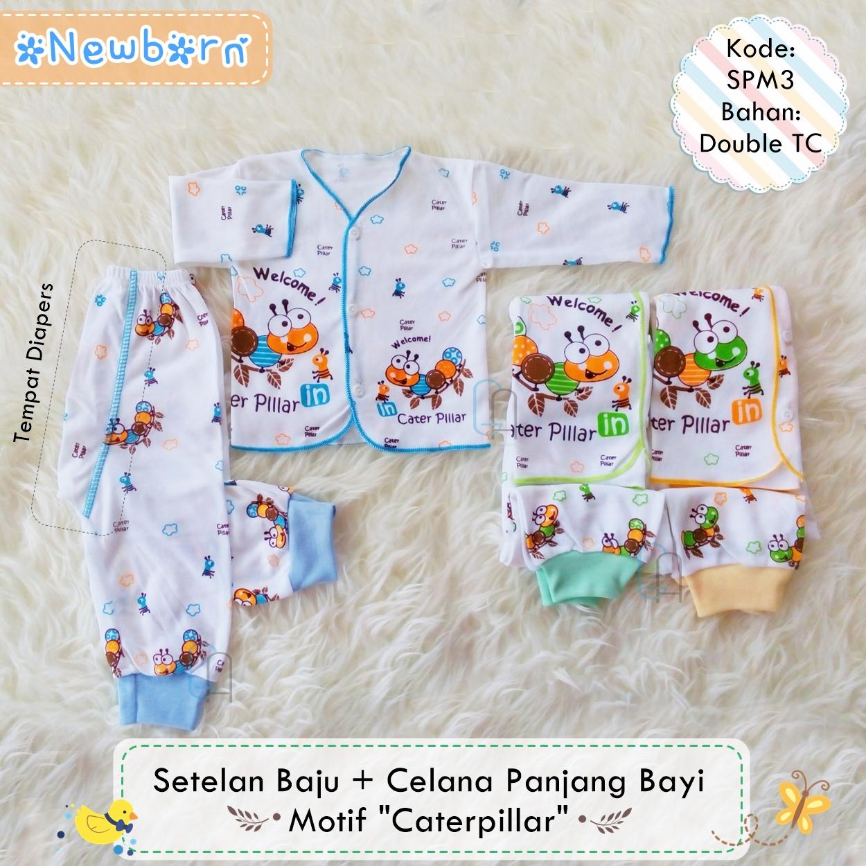 List Harga Baju Bayi Newborn Lucu Terbaru 2018 Cekharga Lengan Panjang 3 Set Setelan Celana Motif