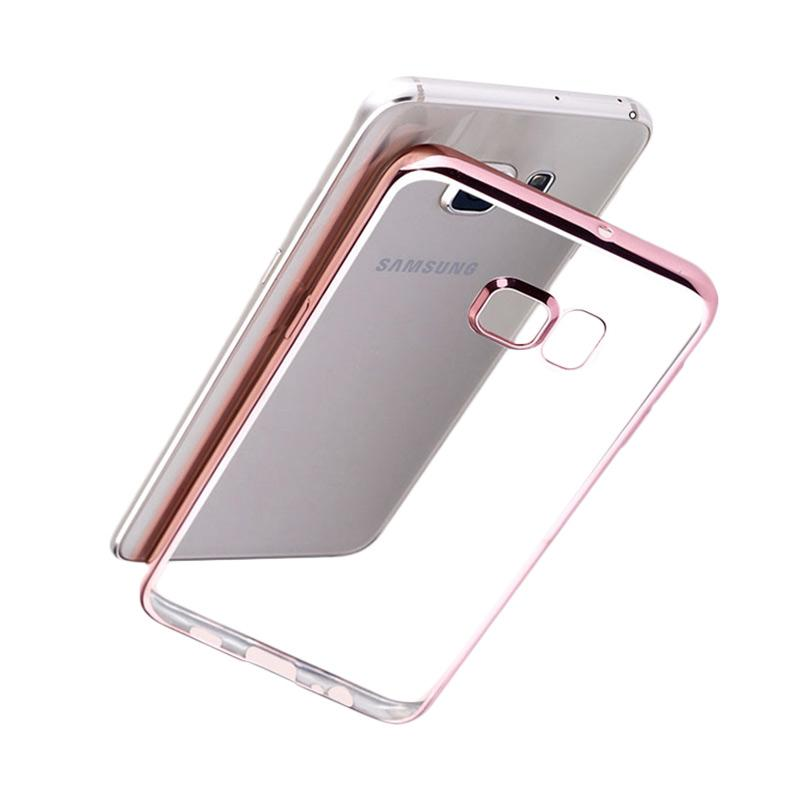 Jual Case Shining Chrome Softcase Samsung A720 A7 2017 - Rose Gold - Distributor Accessories |