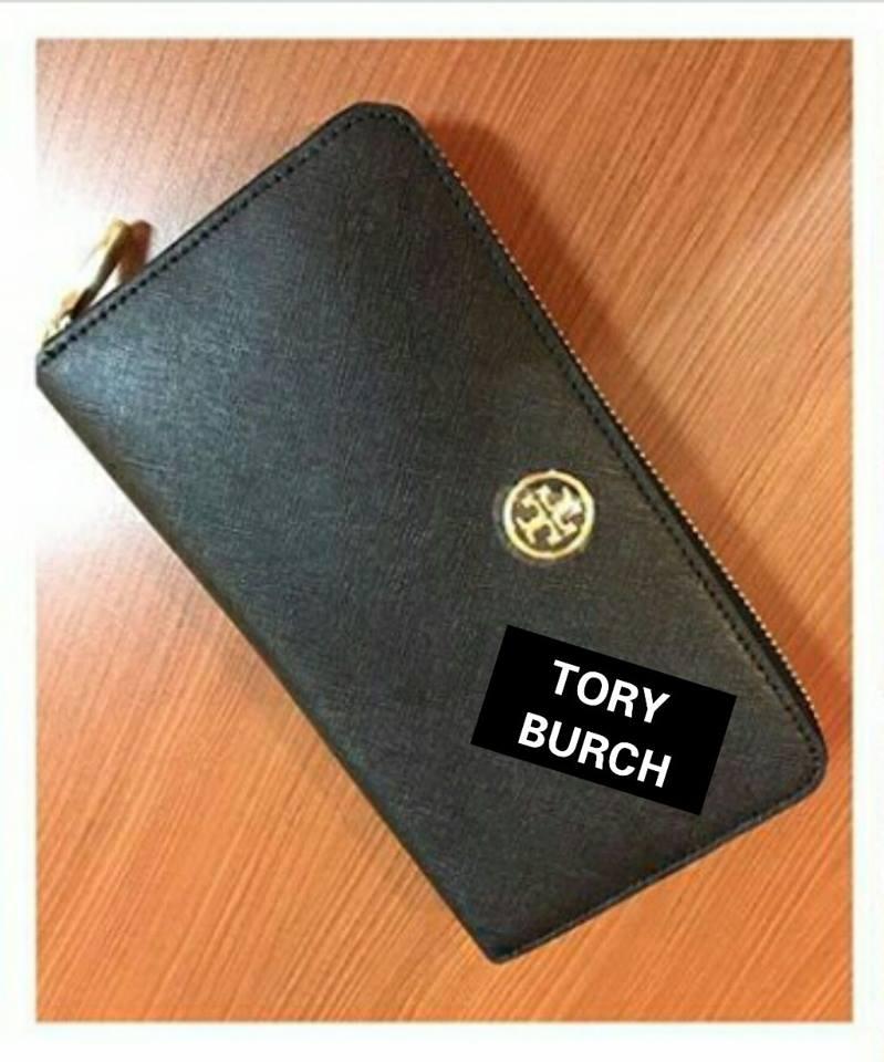 bef5405f186 jual dompet tory burch robinson zip continental black original asli