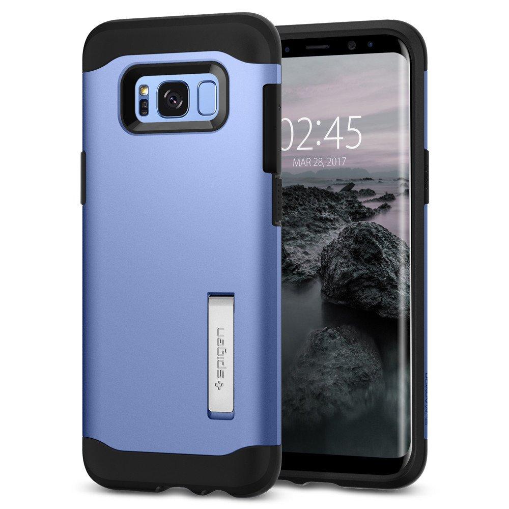 Spigen Samsung Galaxy S8 Case Slim Armor Casing - Blue Coral