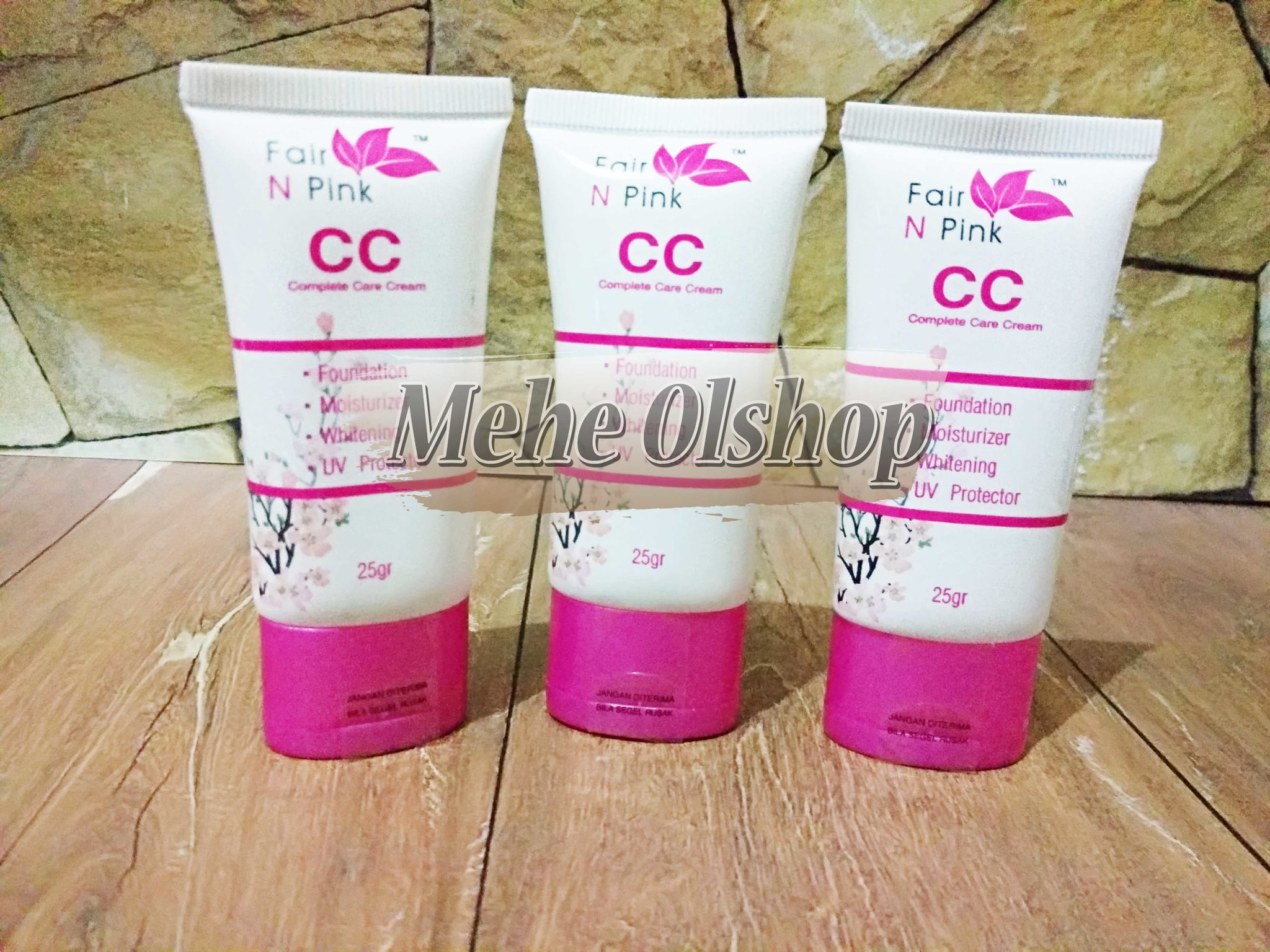 Jual Fair N Pink Cc Complete Care Cream 25gr Original Mehe Foundation Moisturizer Whitening Uv Protector Olshop Tokopedia