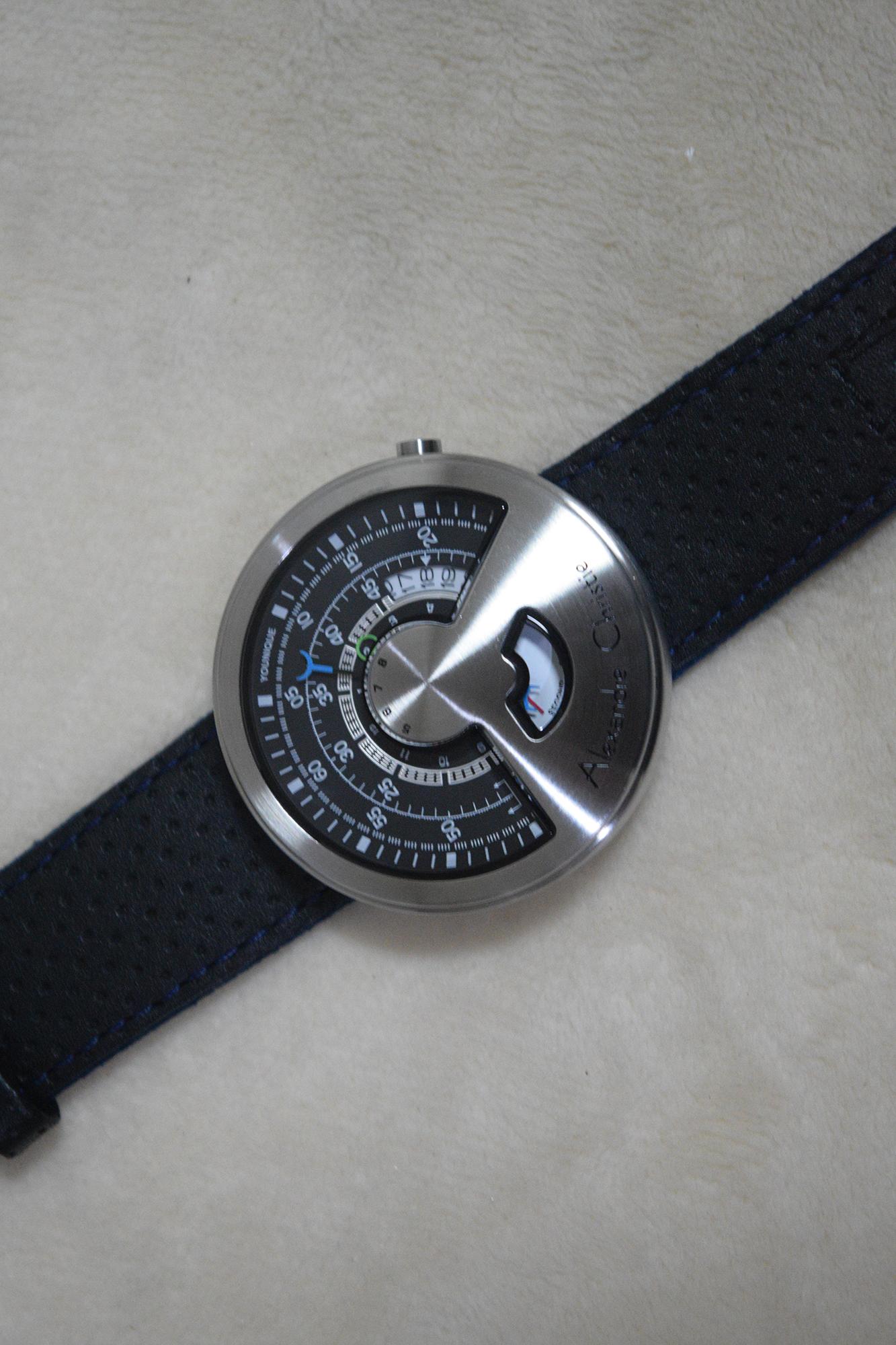 Jual Alexandre Christie Ac 8516 Automatic Silver Black For Men Original Chelli Watch Tokopedia