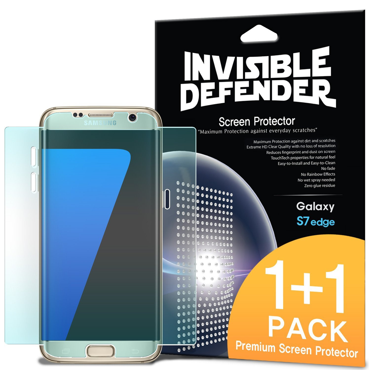 Ringke Samsung Galaxy S7 Edge Antigores Full Cover Invisible Defender