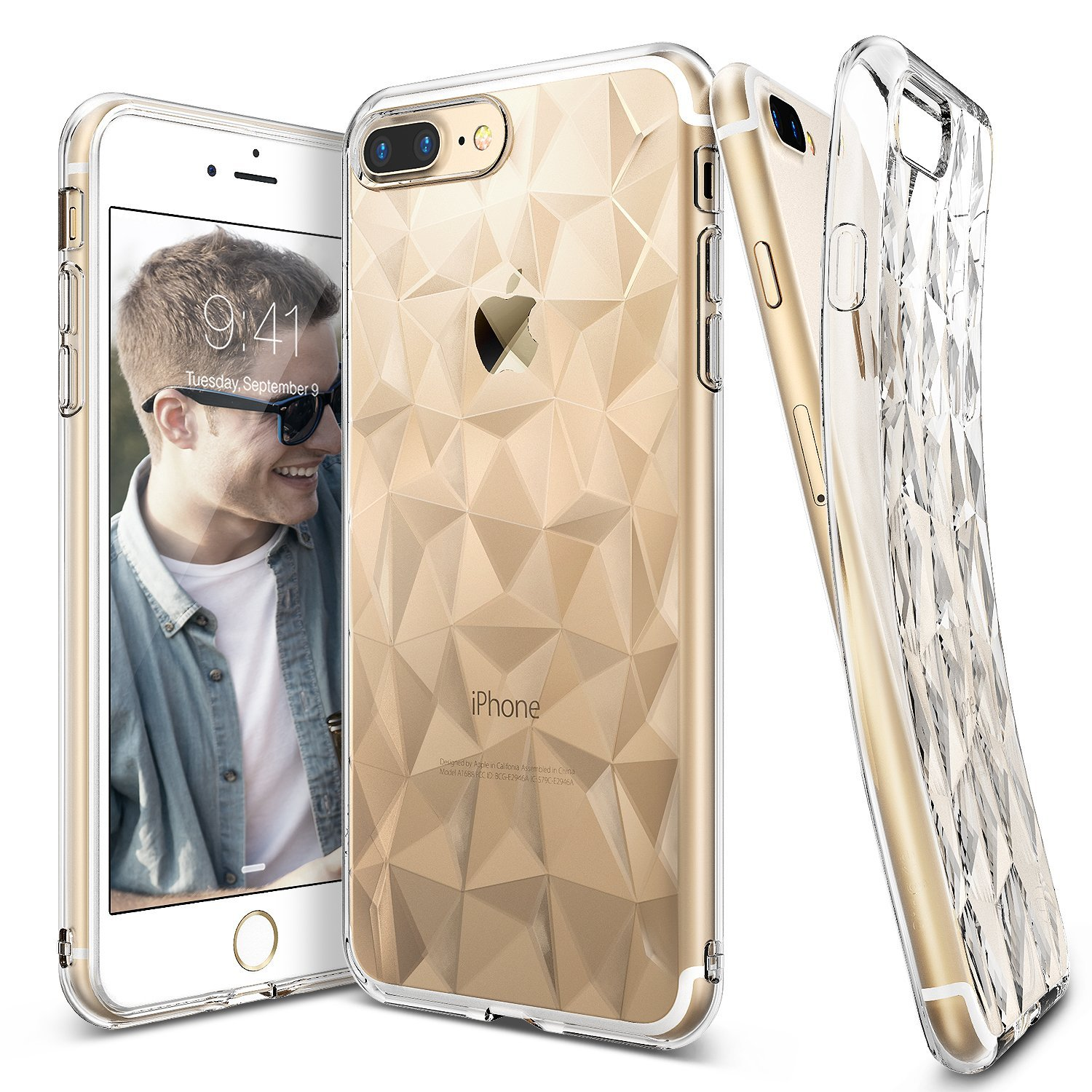 Ringke iPhone 7+ Plus Air Prism Soft Silicone Jelly Case - Clear