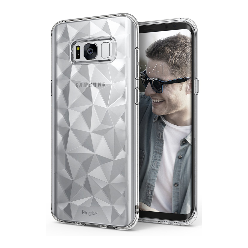 Ringke Samsung Galaxy S8+ Plus Air Prism Soft Silicone Case - Clear