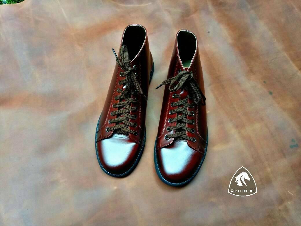 Sneakers Casual Sepatu Kulit Custom Pria Santai