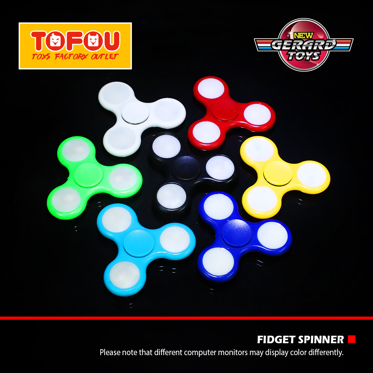 Hand Toys Mainan Tri-Spinner EDC Focus Games Warna Random. Source .