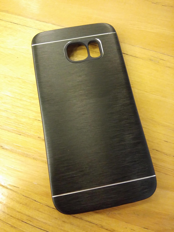Samsung S7 Edge Elegant Metal Shield Brush Texture Soft Armor Case