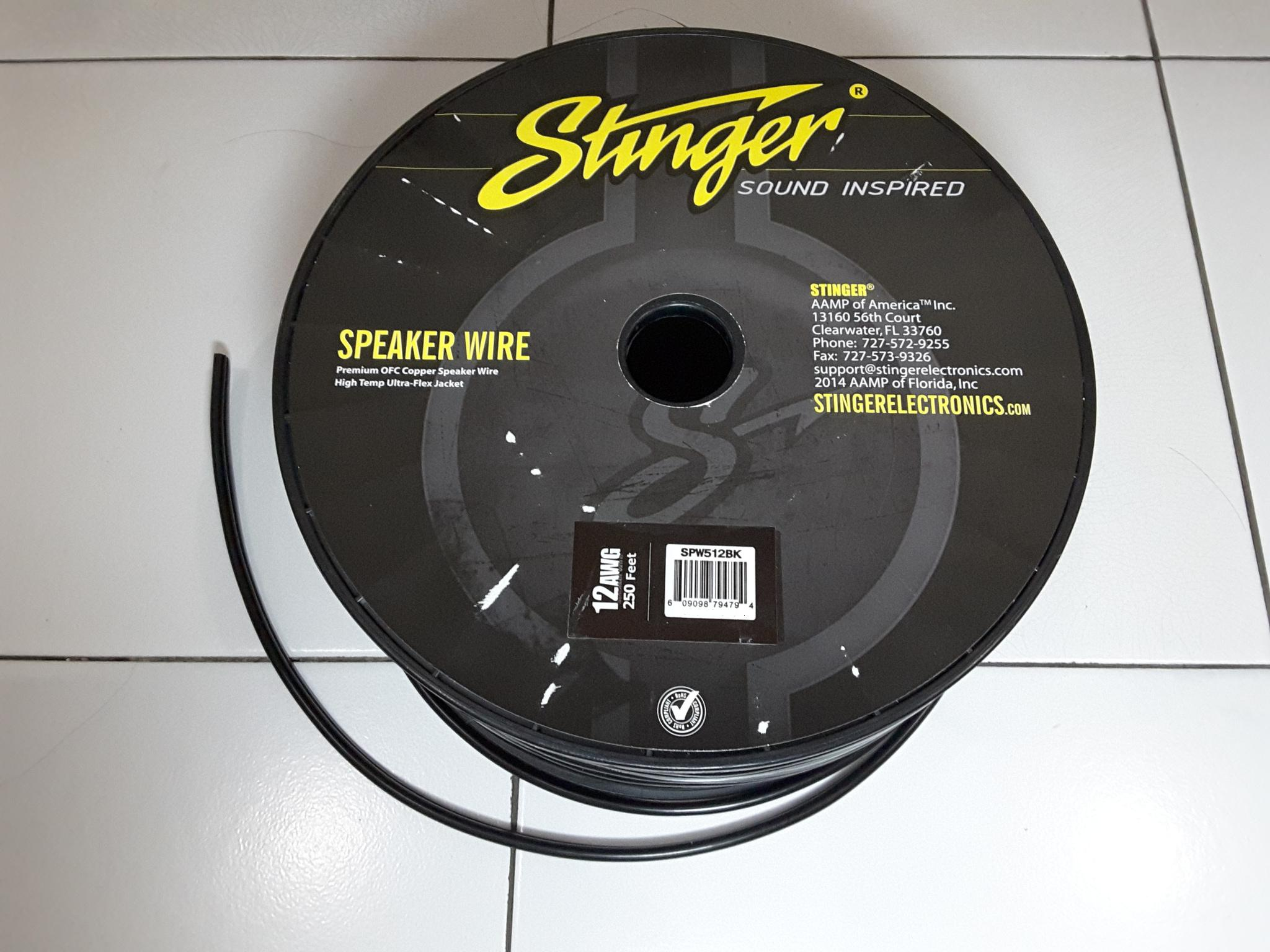 jual kabel speaker 12 awg stinger pro series kota surabaya alexander accs tokopedia. Black Bedroom Furniture Sets. Home Design Ideas
