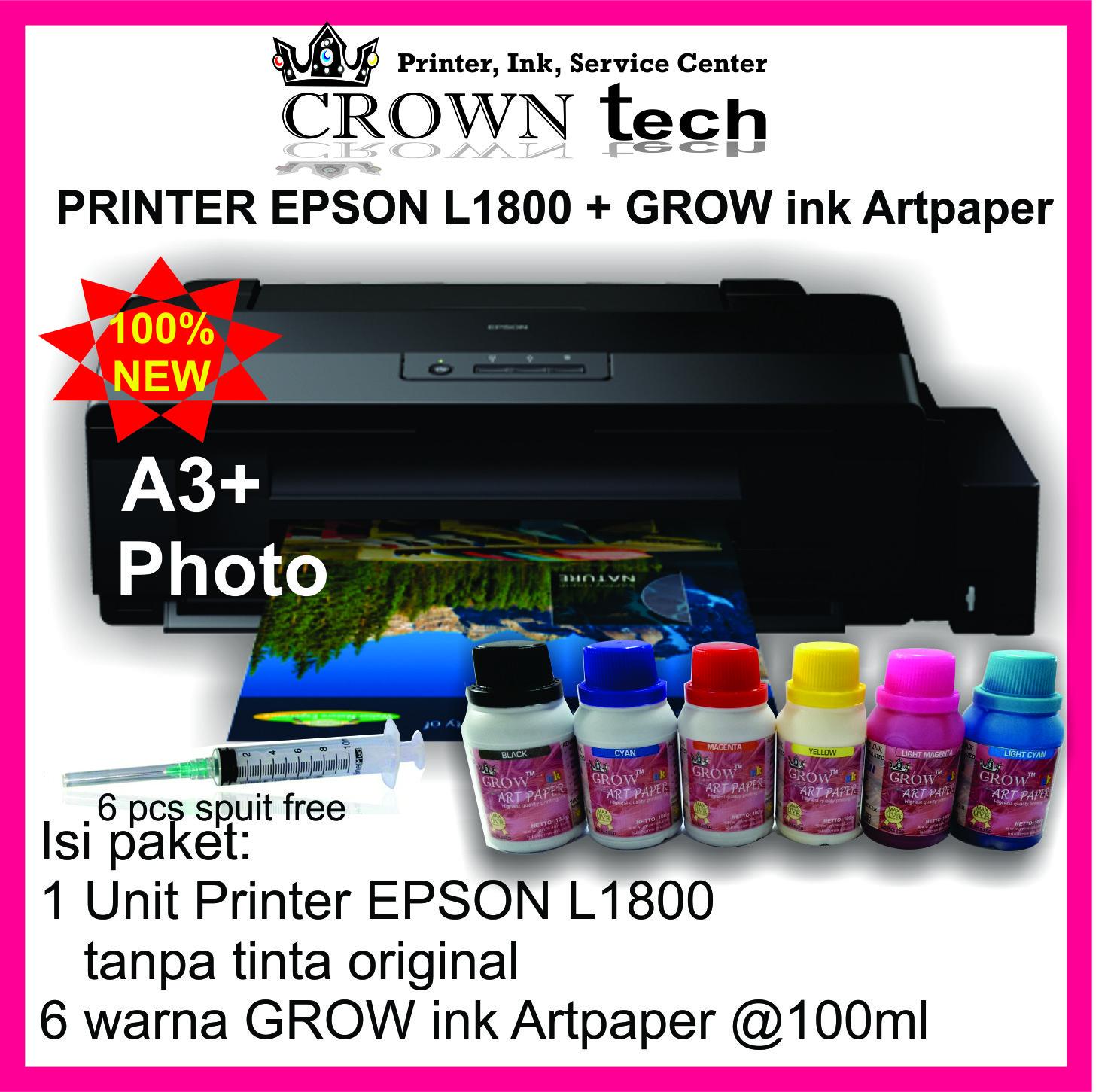 Jual Epson L1800 Printer A3 Photo Grow Ink Art Paper Crown Tech Tokopedia