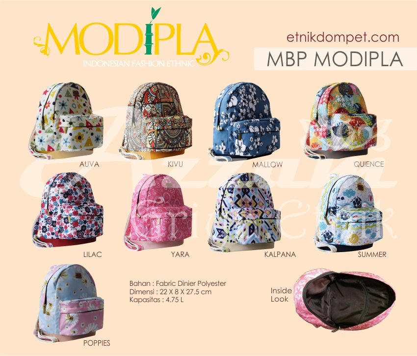 Grosir Tas / Dompet Wanita Modipla Ransel Mini Backpack