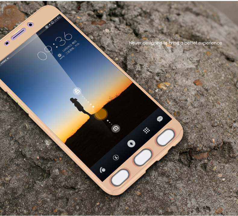 the best attitude e2cf7 fba8f Jual Hardcase Case 360 Oppo F1s / A59 Casing Free Tempered Glass ...