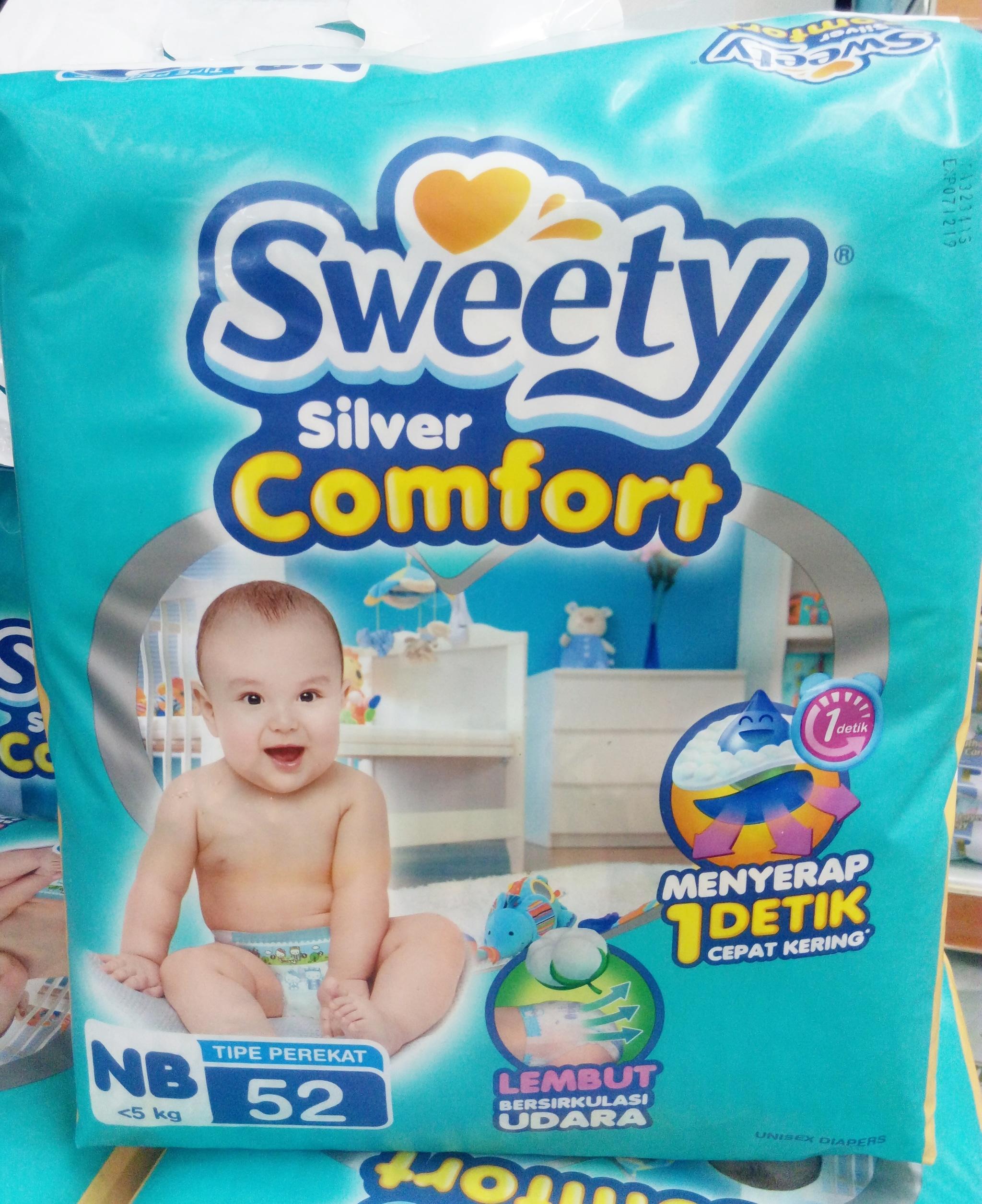 Sweety Silver Comfort Nb 6 X 52s Daftar Harga Terlengkap Indonesia Pampers Premium Care Tape 52 Jual Popok Perekat Bayi Diapers Kimy Shop Surabaya