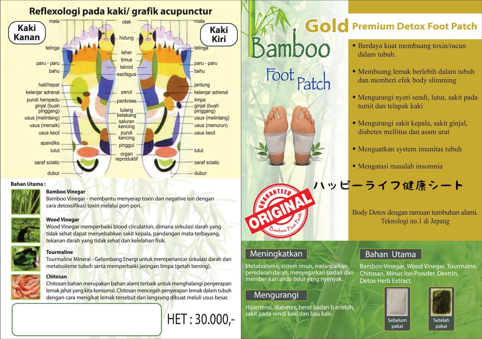 Jual Koyo Bamboo Gold Original - Premium Detox Foot Patch - Toko Olid H&T | Tokopedia