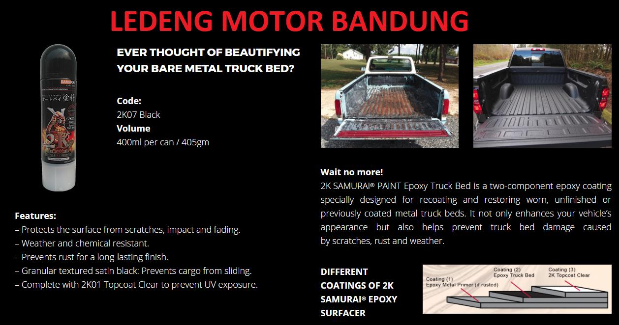 Jual 2k07 Black Epoxy Truck Bed Wrinkle Cat Semprot Aerosol Samurai Can Gun Pilox Paint Ledeng Motor Bandung Tokopedia