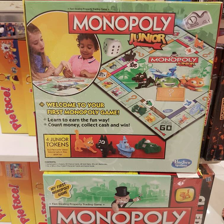 Gebruiksaanwijzing junior monopoly