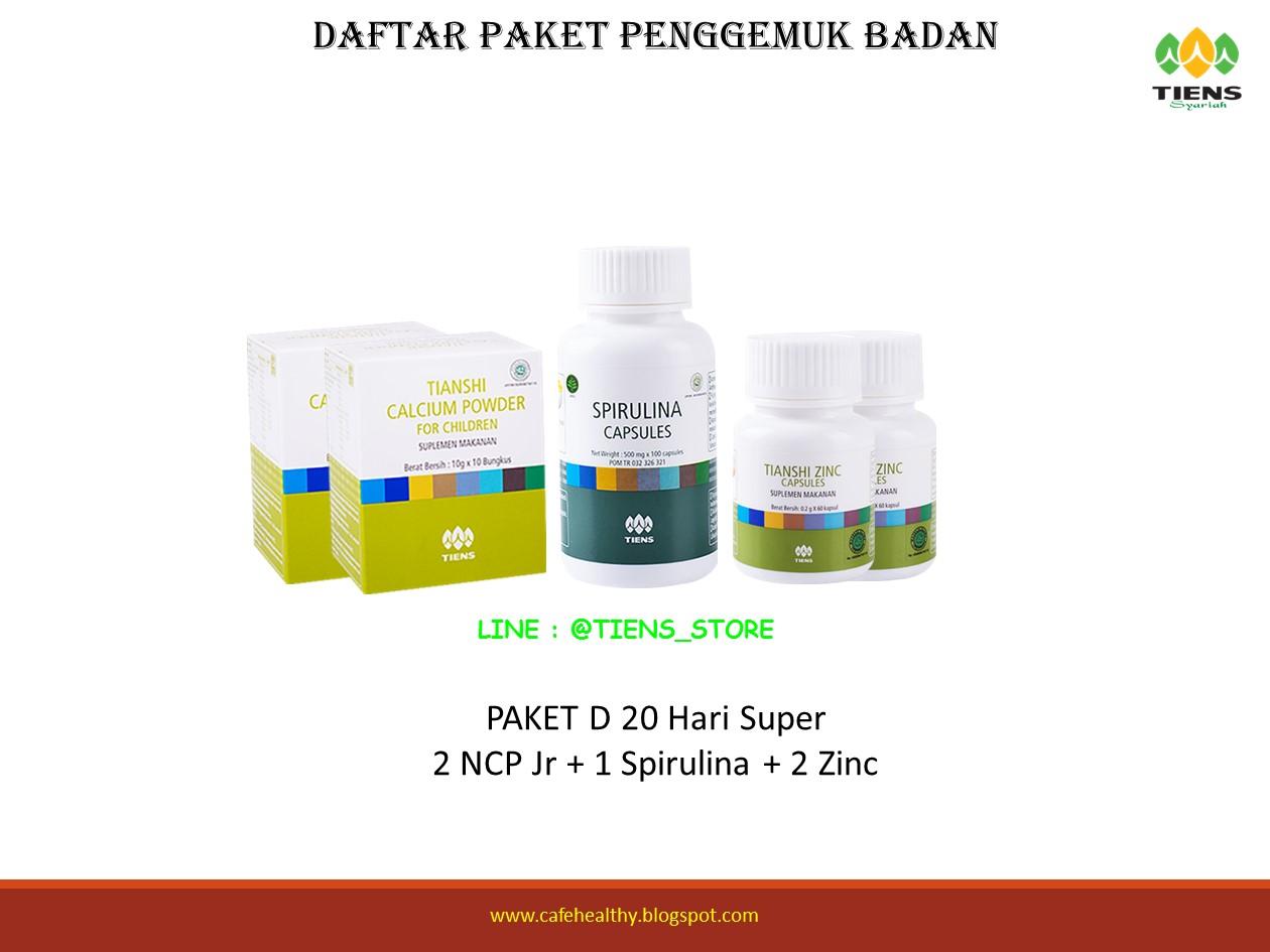 Jual Paket D3 Penggemuk Badan Tiens Alami Penambah Nafsu Makan Berat Peninggi Bandung Tokopedia