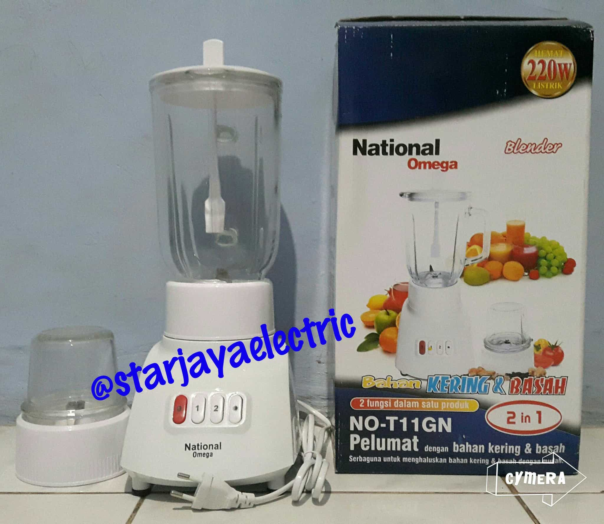 Jual Blender National Omega Glass Kaca 2in1 No T11gn Star Jaya Mixer Natonal Electric Tokopedia