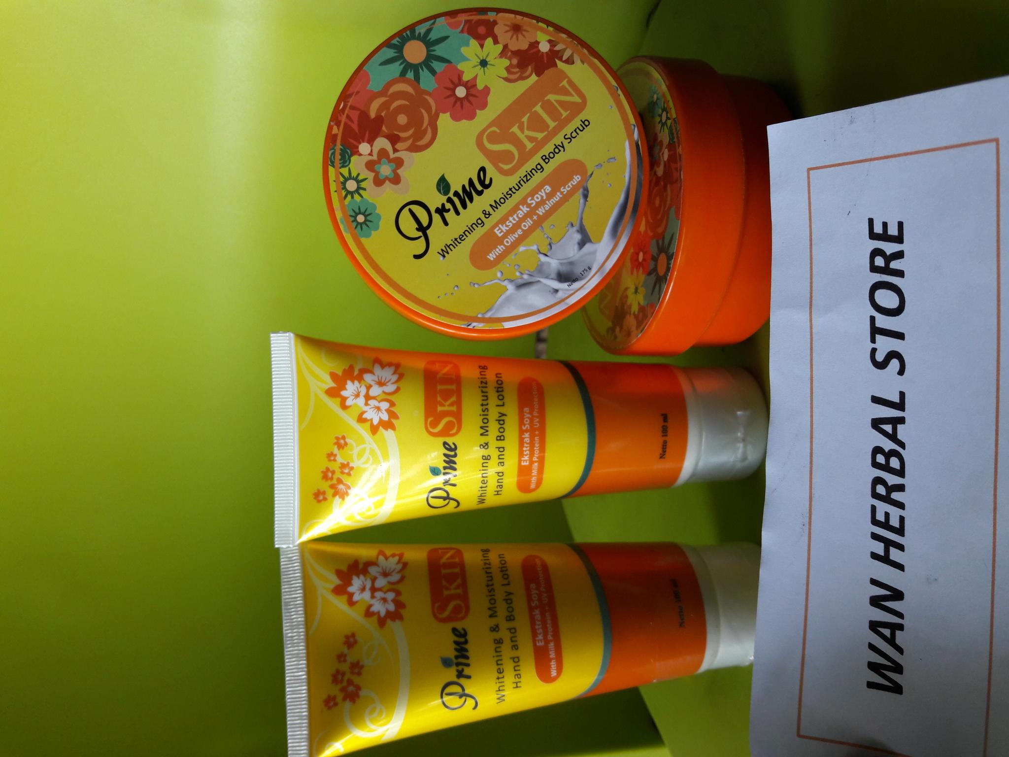 Jual 1 Paket Pemutih Kulit Prime Skin Lotion Scrub Hand And Agaricpromurah Tokopedia