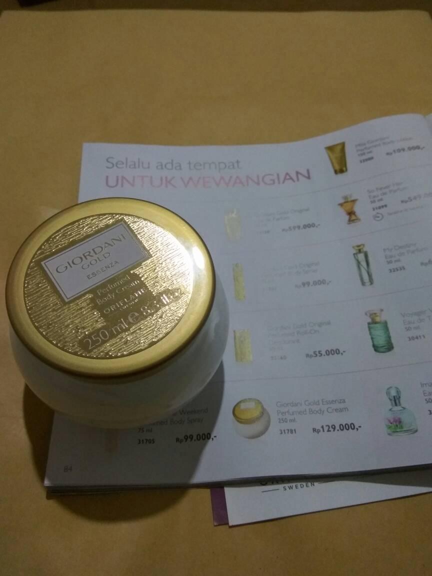 Jual Oriflame Giordani Gold Essenza Perfumed Body Cream 250ml The Tokopedia