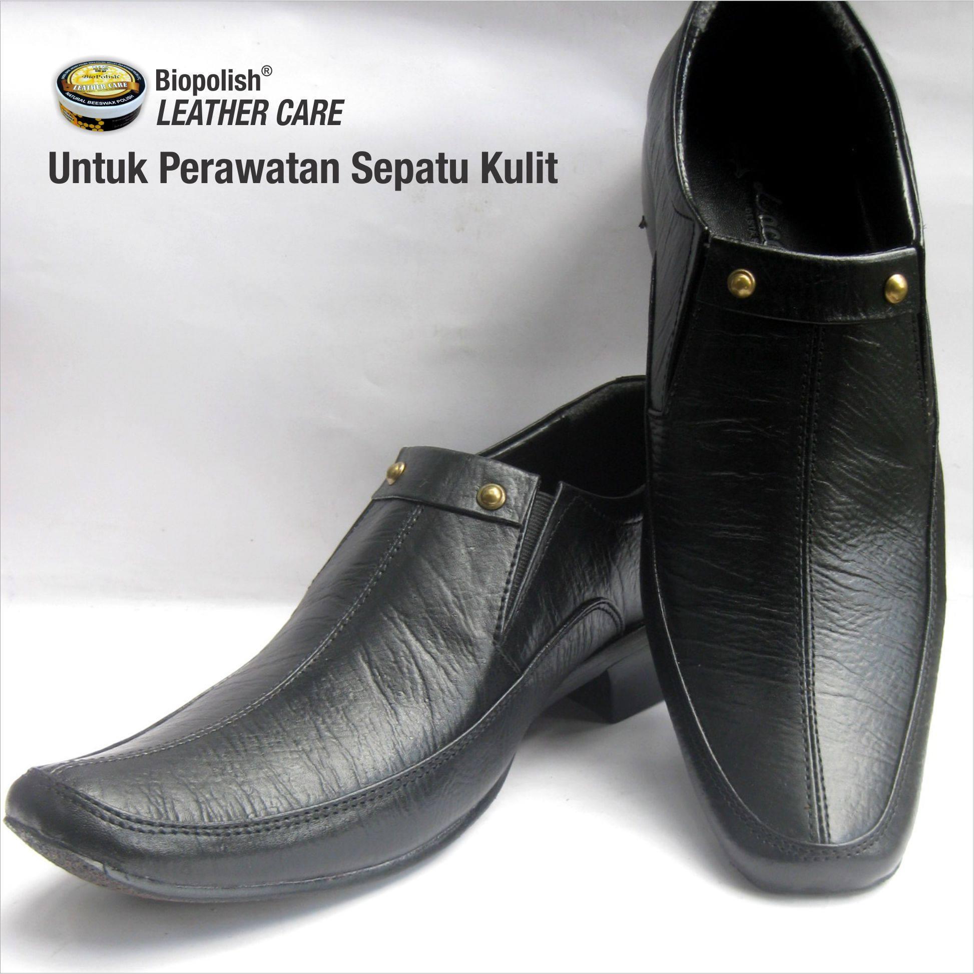 Jual Semir Sepatu Kulit Hitam Biopolish Poles Alami Tokopedia Shoe Polish Leather