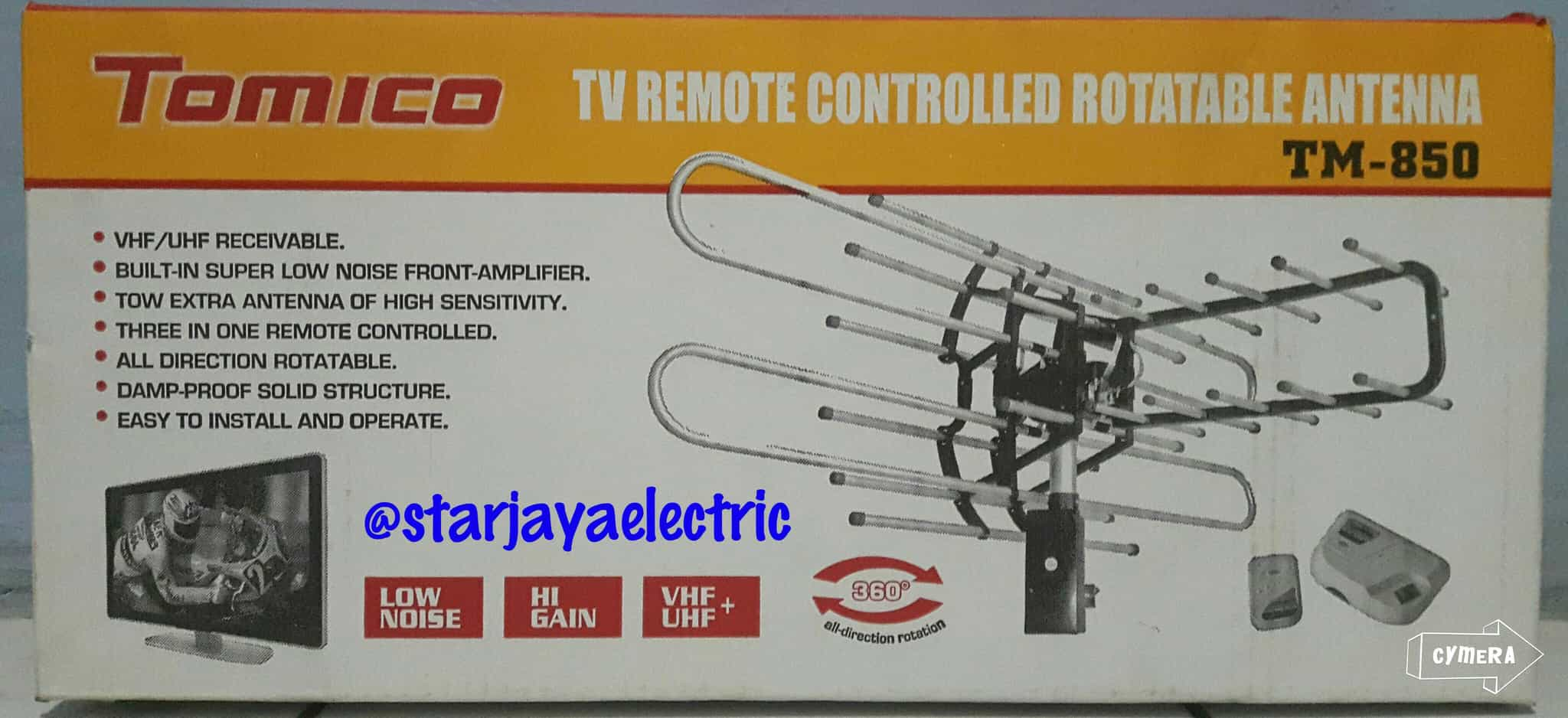 Jual Antena TV Luar/TV Remote Controlled Rotateable Antenna Tomico TM-850 - Star